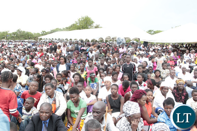President Edgar Lungu addressing a rally at Mpika Main Market