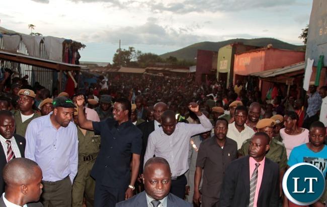 President Lungu on his arrival at Navutika market in Chipata