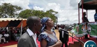 Catherine Namugala at a PF rally in Mafinga today