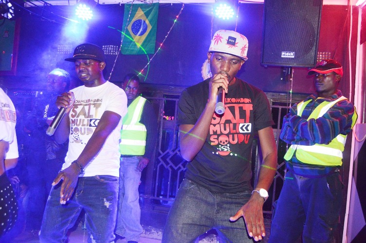 Drimz peforming with supporting artist Lucky