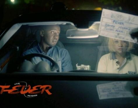 Grace as 'Mwaka' with co-star Sam Sakala as 'Taonga'