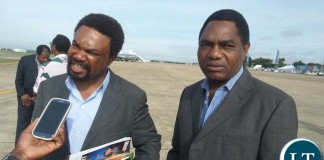 HH and Dr Banda giving interviews at KKIA