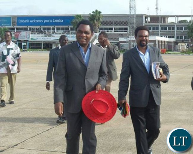 HH with Canisius Banda at KKIA this morning enroute to Eastern Province
