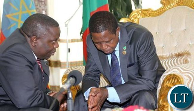 Harry Kalaba confers with President Lungu