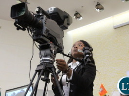 ZNBC carries the proceedings live: Tamara Nyirenda.
