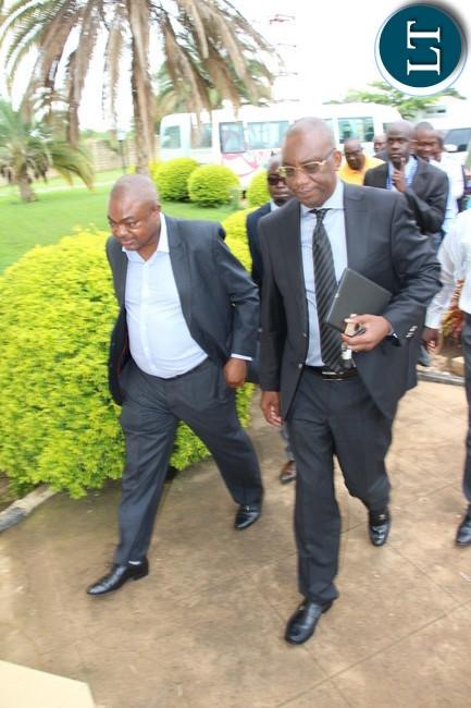 FAZ President Andrew kamanga arrives at Football House