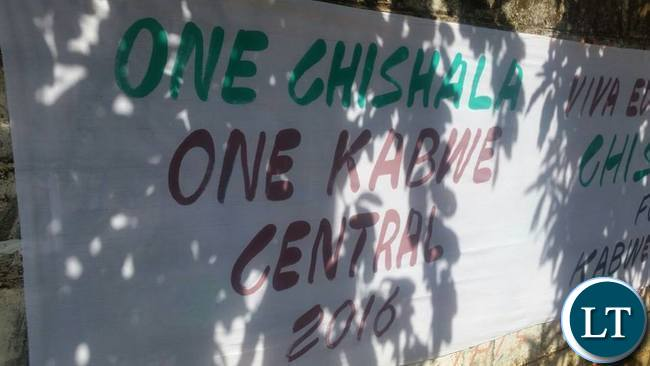 More banners in support of Mr Chishala