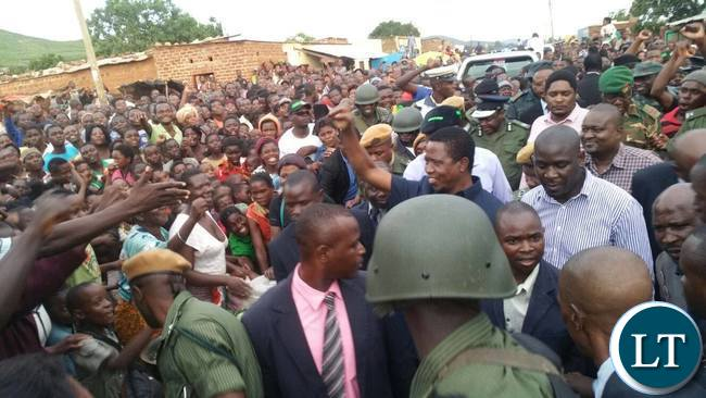 President Lungu addressing Kapata Market Traders and Residents of Chipata Central