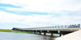 Side View of the Newly Constructed Bridge on the Zambezi River on Mongu-Kalabo Road in Western Province