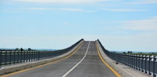 Face View of the Newly Constructed Bridge on the Zambezi River on Mongu-Kalabo Road in Western Province