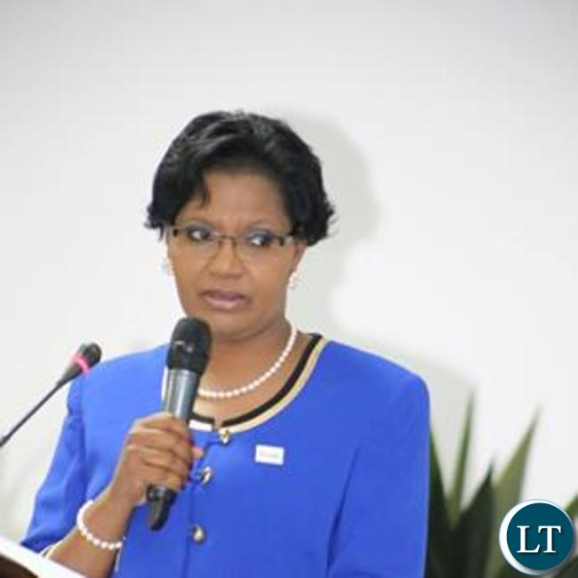 Dr Liya Mutale speaking at the launch event