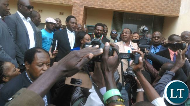 UPND Leadership at the court to offer GBM solidarityUPND Leadership at the court to offer GBM solidarity