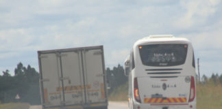 A Passenger Bus with Registration Number B286 AZN was spotted over taking by crossing an unbroken line along Choma - Monze road