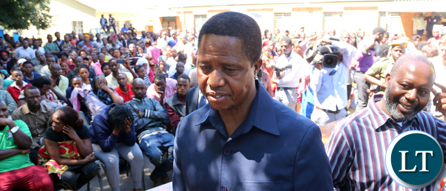 President Edgar Lungu Visits Lusaka Riots Victims at Kalemba Hall in Lusaka