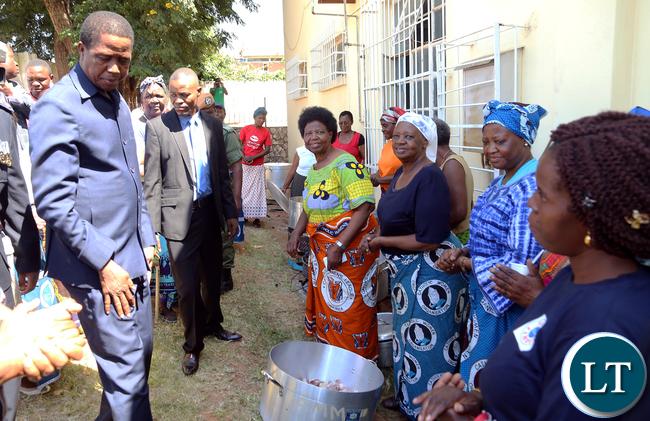 President Lungu Visits Kalemba Hall