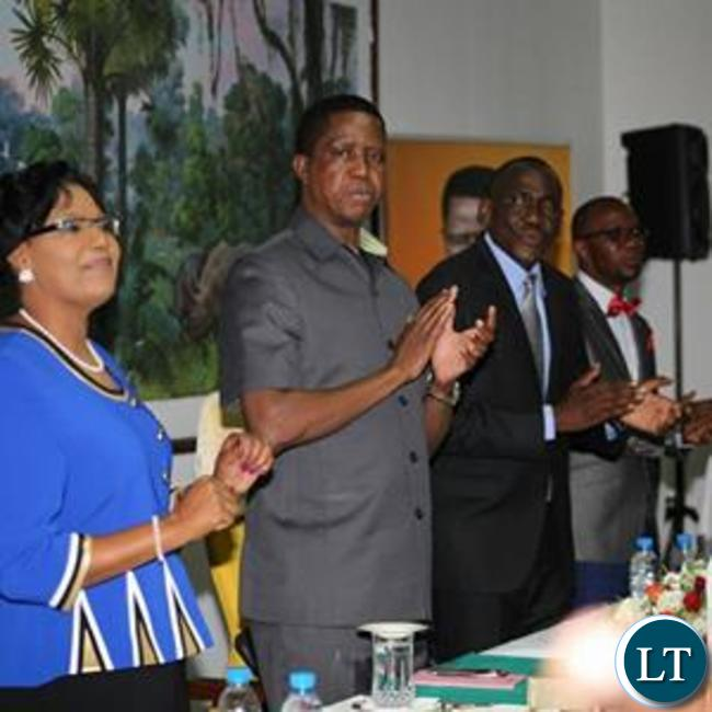 President Lungu at the launch event