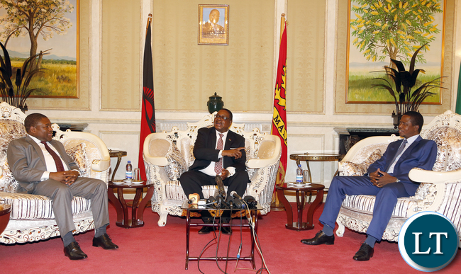 President Lungu with Malawian President and Mozambique President