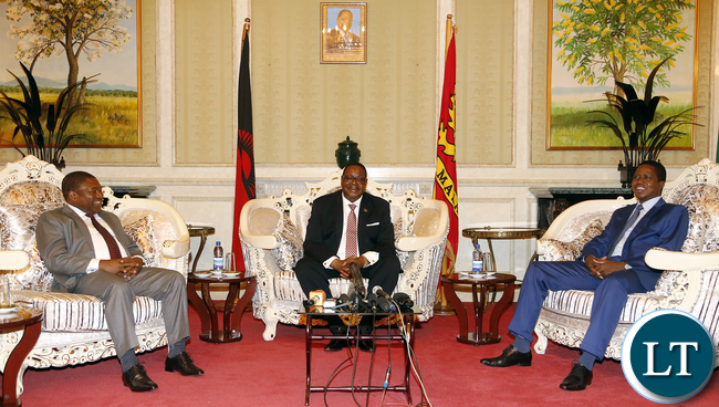 President Lungu with Malawian and Mozambique leaders