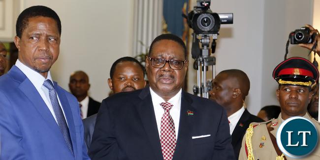 President Lungu with Prof Mutharika