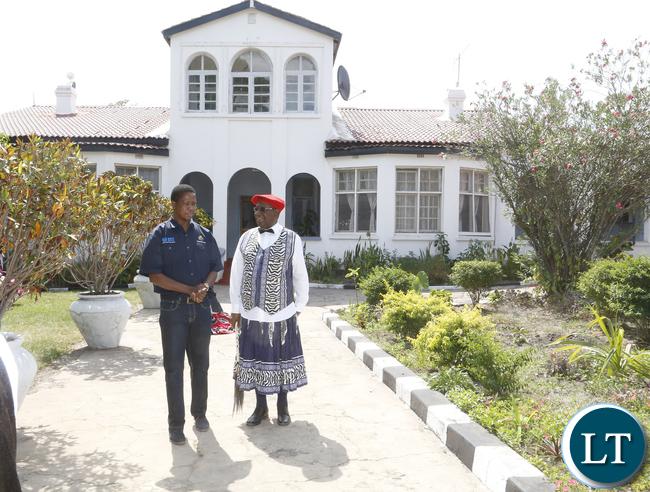 President Lungu with The Litunga at his Royal Palace
