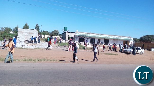 Riots in Mungule area in Ten Miles