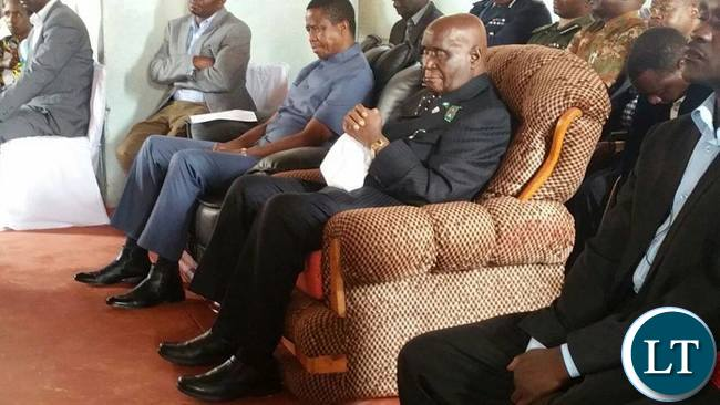 President Lungu and former President Dr Kenneth Kaunda visiting the Lubwa Mission