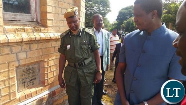 President Lungu at Lubwa Mission