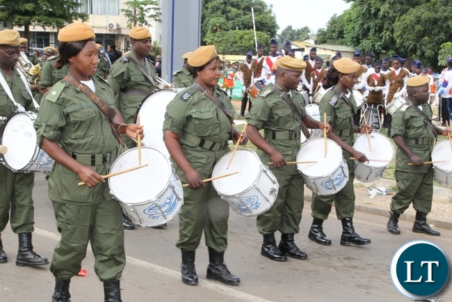Zambia Police Service participating in this year Labour Day celebrations