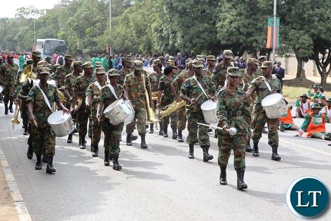 Zambia Air Force participating in this year Labour Day celebrations