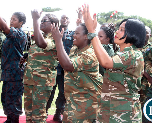 Combined Defence Force Choir during the African Freedom Day celebrations at State House on Wednesday, May 25,2016 -Picture by THOMAS NSAMA