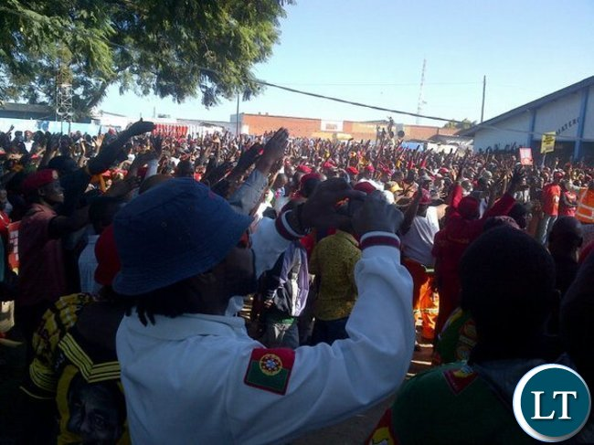 Huge crowd attended the Matero UPND rally