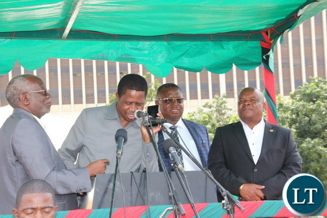 President Lungu at this year's Labour celebrations