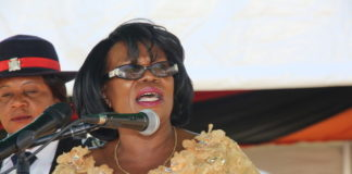 Gender Minsister Nkandu Luo during the UNZA Celebrations