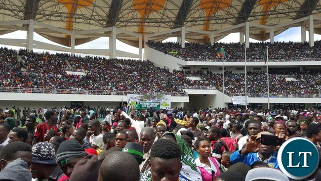 Over flowing crowds at Heroes Stadium