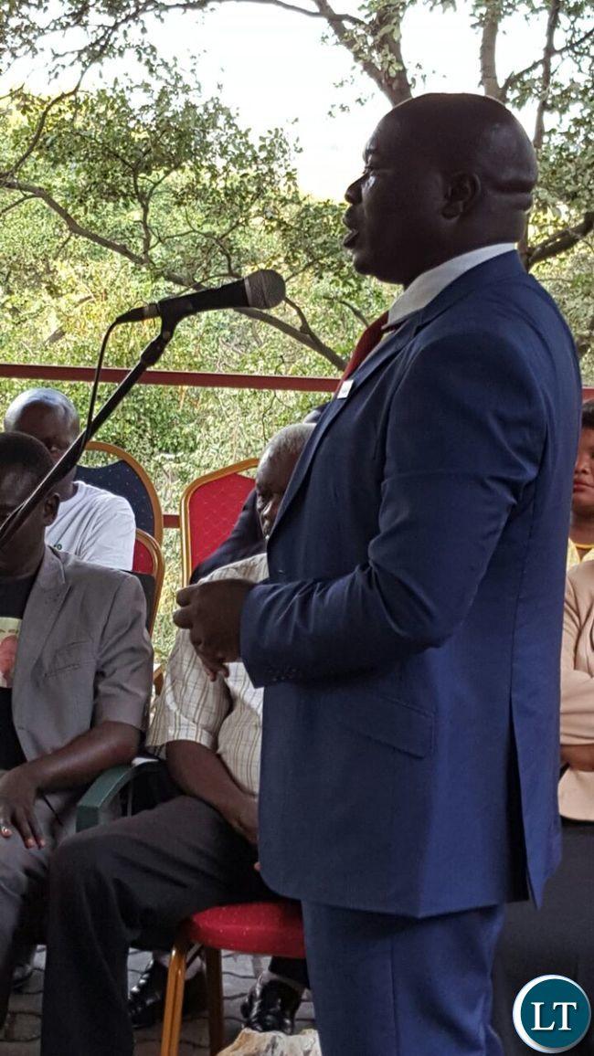 PF Copperbelt Provincial Chairman Stephen Kainga