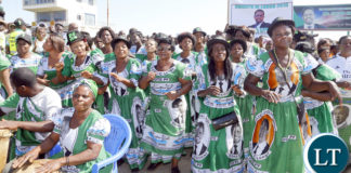 PF Cadres Welcomes President Lungu at Ndola airport