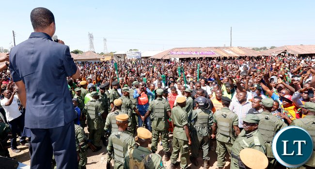 President Lungu Address Wasakile Residents at Black Mountain in Kitwe Picture by Eddie Mwanaleza/Statehouse