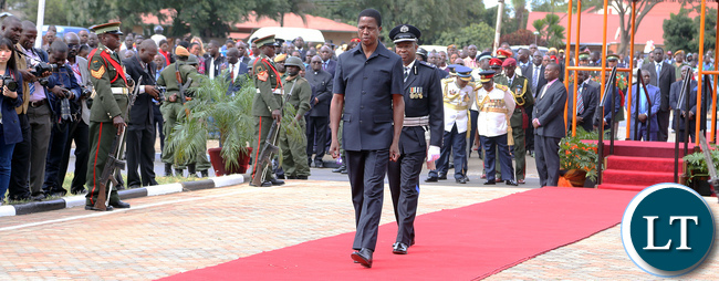 President Edgar Lungu at Africa Freedom Day in Lusaka