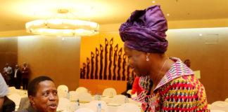 President Lungu Greets Miss Nawakwi