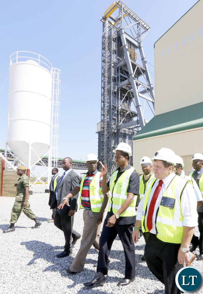 President Lungu tour Synclinorium Shaft at Mopani in kitwe 0731