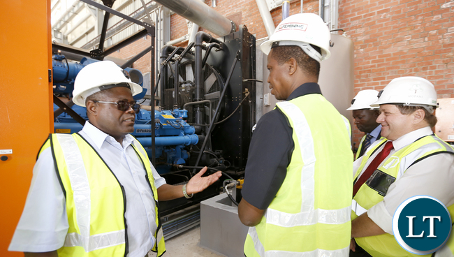 President Lungu tour Synclinorium Shaft at Mopani standby Power Generators 0702