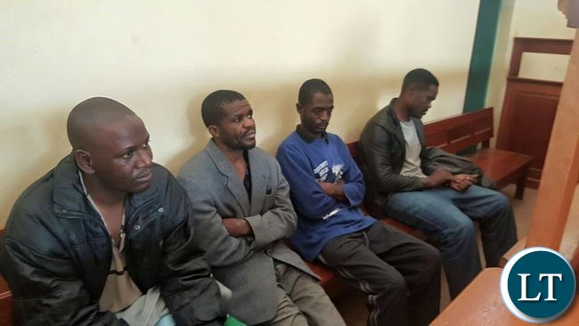 Suspects in the ritual murder case in court