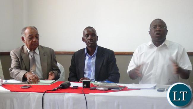 From Left to right: Dante Saunders, MacDonald Chipenzi and Gabriel Namulambe