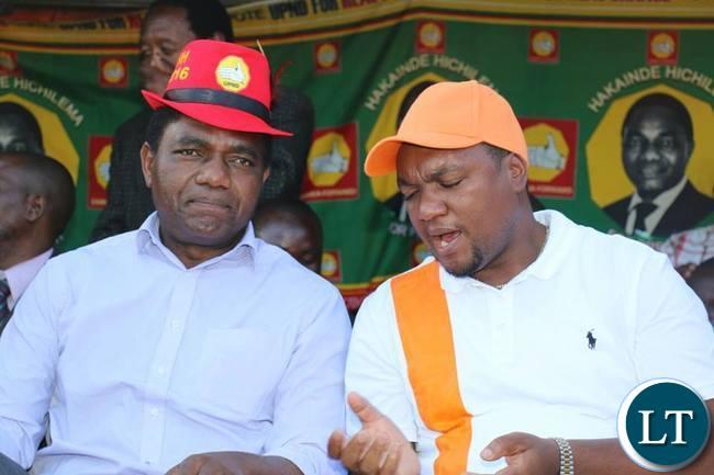 UPND President Hakainde Hichilema with Miles SampaUPND President Hakainde Hichilema with Miles Sampa