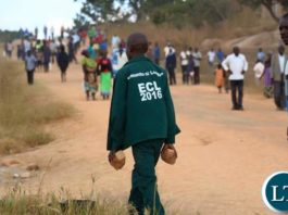 A PF cadre ready to launch an attack on UPND supporters