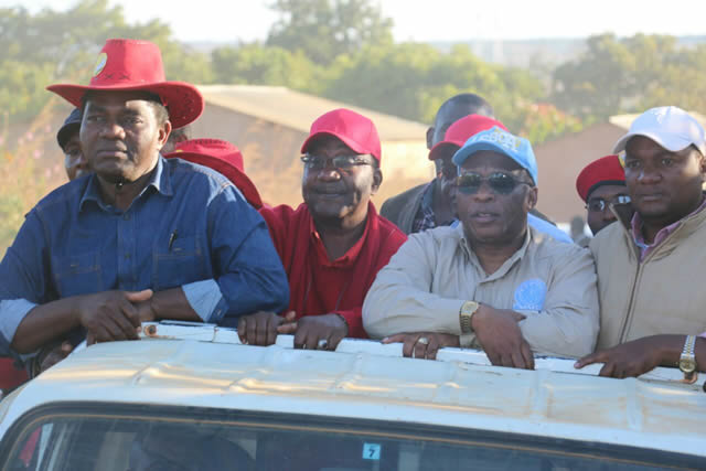 HH, GBM ,Nevers  Mumba and Miles Sampa on Campaign Trail