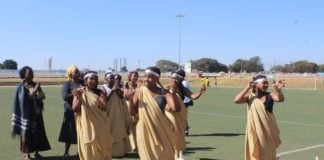 Refugees in song and dance at OYDC in commemoration of World Refugee Day in Lusaka