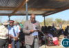 Southern Province Permanent Secretary Mr. Sibanze Simuchoba delivering his speech during the inaugural Samu Lya Moomba Lwiindi traditional Ceremony of the Tonga speaking people of Choongo Chiefdom