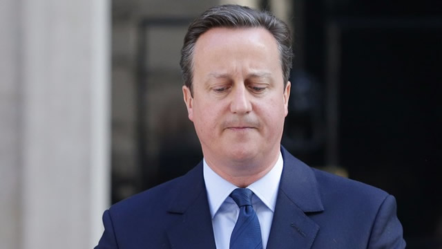 David Cameron announcing his resignation. Credit: PA Wire