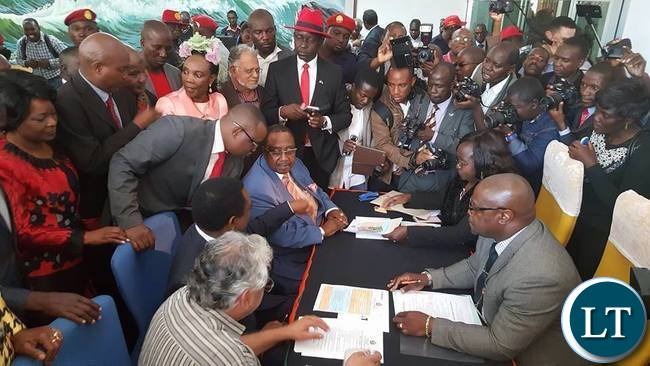 HH and GBM during nomination filing in
